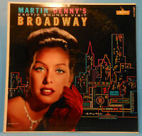 MARTIN DENNY'S EXOTIC SOUNDS VISIT BROADWAY LP 1960 MONO GREAT COND! VG+/VG++!!A
