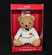 Coca Cola Costume Bear Waiter Collectable Plush 24cm Rare