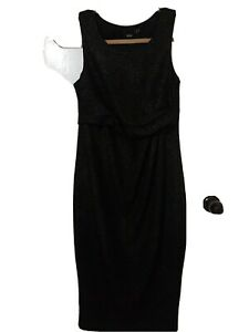ASOS maternity Black Sparkly Occasion Dress Size 8