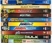Marvel Animated Movies DVD Lot - Avengers Doctor Strange Thor Planet Hulk Vs