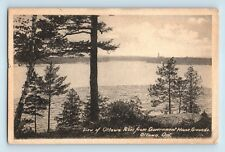 Ottawa, Ontario, Canada - RARE EARLY RIVER VIEW FROM GOVERNMENT HOUSE - POSTCARD