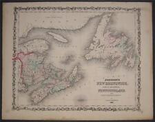 1861 Map of New Brunswick Prince Edward Island Canada