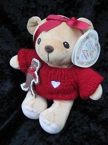 "Cherished Teddies Cookie Plush Bear Priscilla Hillman1999 Holiday Gingerbread 8"""