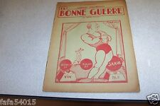 REVUE SATIRIQUE LA BONNE GUERRE JEAN SARTORI 27-12-1934