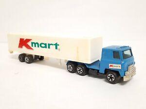 "Vintage Kmart Semi Cab Tractor Trailer Truck Plastic / Metal Hong Kong 9"""