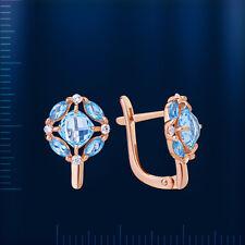 Rosegold Schmuck 585 Ohrringe mit Topas OR34831