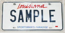 COLLECTIBLE LICENSE PLATE SAMPLE SAM LOUISIANA NEW ORLEANS BATON ROUGE LSU 1998