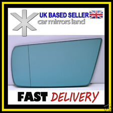 Left Passenger Side Wing Mirror Glass  MERCEDES C-Class W202 93-00 Aspheric Blue