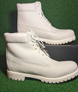 """Timberland """"Ghost White"""" RARE Limited Release 6"""" Premium Waterproof Boots A1M6Q"""
