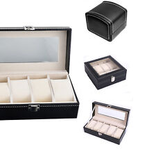 Uhren Box Uhrenverpackung Lederimitat und Kunststoff Etui Schwarz Uhrenbox