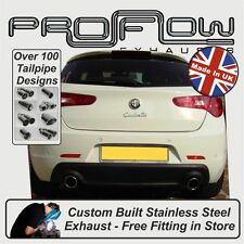 Alfa Romeo Giulietta Exhaust (Cat Back System, Mid & Rear) Choice of Tail Pipes
