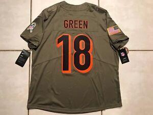 NWT NIKE Cincinnati Bengals A.J. Green Salute To Service NFL Jersey Women's XL