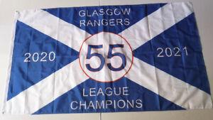 Glasgow Rangers F C55 Flag Size 5ft x 3ft ,Loyalist ,WATP, New Crest