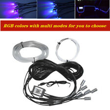 12V 6in1 RGB LED 8M Fiber Optic Car Interior Neon EL Strip Light APP Remote Set
