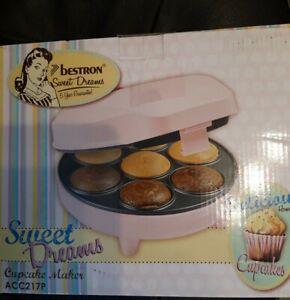 Bestron Cupcake Maker 700W Rosa , Muffinmaker Pop Cake Maker Gerät, neu