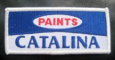 """BENJAMIN MOORE CATALINA PAINT EMBROIDERED SEW ON PATCH ADVERTISING 4"""" x 1 3/4"""""""
