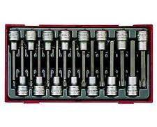 """Teng Tools TTTXH15 15 Pc Long Torx & Hexagon Hex Allen Bit Set 1/2"""" Drive"""
