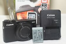Canon PowerShot G9 X Mark II Digital Camera WIFI / NFC 3X Zoom Full HD Black
