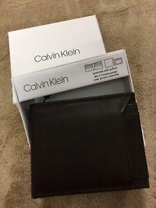 ★ CALVIN KLEIN * Men's Passcase with Pullout Wallet - Dark Brown ★