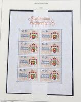 Liechtenstein 1996 bis 2003 ** Sammlung, Kleinbogen, Frankaturwert 545 Franken