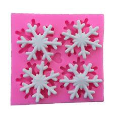 Sugarcraft Snowflake Silicone Fondant Mold Cake Decor Chocolate Gumpaste Mold ev