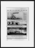 Vintage 1916 photograph of Enemy ships of the types sunk by the grand fleet Summ