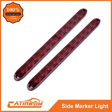 "2PC 15"" 11 LED Red Sealed Trailer Truck&RV Stop Tail Rear Brake Turn Light Bar"