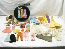 Vintage Barbie Hat Box Case w/1958 Doll Hand Made Clothes Wigs Wedding Dress