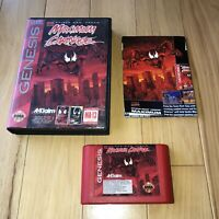 MAXIMUM CARNAGE Sega Genesis RED CART Spider-Man Venom TESTED Game, Box, Insert