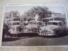 3 CAR CRASH  IN 1956  1953 ? FORD 1951 ? PONTIAC 11 X 17  PHOTO   PICTURE