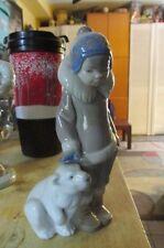 "NAO by Lladro -  Eskimo Figurine With Polar Bear 5238 SUPERB!  6"" Tall"