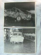vintage fotos NUEVO 1970 OPEL GT Coche deportivo wreck on remolque camión 801