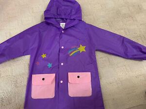 Toddler Girls LILLY OF NEW YORK Size 3T Purple Unicorn Rain Coat Jacket