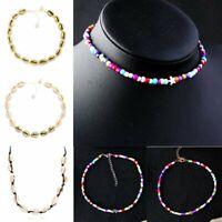 Hot Boho Beach Bohemian Sea Shell Pendant Chain Choker Necklace Women Jewelry