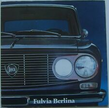 Lancia Fulvia Berlina S2 1300 1971-73 Original UK Market Multilingual Brochure