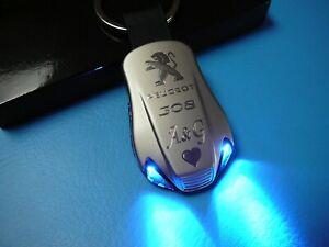 Porte-clés PEUGEOT 207 307 407 e 208 308 sw cc 2008 3008 508 GT line pendentif