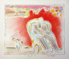 """PETER MAX """"THE GARDEN"""" 1980   EMBELLISHED STUDY EDITION   OTHERS AVAIL   GALLART"""