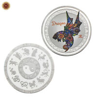 WR Chinese New Year Zodiac Animal Lunar Year of the Dragon SILVER Coin Souvenirs