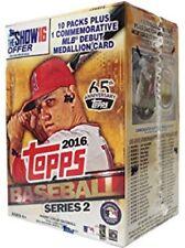 2016 Topps SERIES 2 Baseball  BLASTER BOX Factory Sealed 10 Packs + Medallion