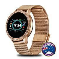Fashionable Women Sports Waterproof Heart Rate Bluetooth IOS Android Smartwatch