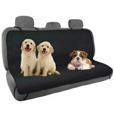 Seat Cover Rear Back Car Pet Dog Travel Waterproof Bench Protector -Black