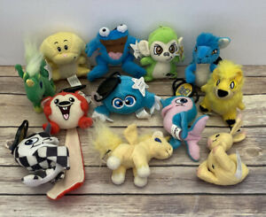 Neopets Mcdonalds Lot Of 12 Mini Plush Stuffed Animals 2004-2005