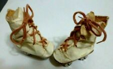 """Shoes 1940's 50's Roller Skates doll 2 1/2"""" size oilcloth Hard Plastic Doll"""