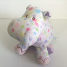 Douglas Baby Hippo Plush Cuddle Toy Pastel Polka Dot Stripe Purple