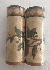 """2 Beige Green Vines Wallpaper Border England 4.5""""wide 10yds total"""