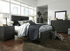 SALINAS 5 pieces NEW Modern Gray Bedroom Set Furniture w/ King Size Panel Bed