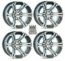 "(4) ITP 12"" SS212 Foreman Rubicon 500 '15-19 IRS Wheels Set Rims Wheel Kit Honda"