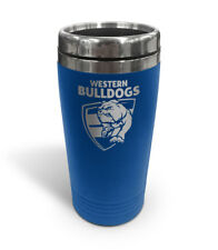 Western Bulldogs AFL TRAVEL Coffee Mug Cup Double Wall Stainless Steel Gift