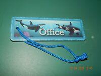 "WYLAND WORLDWIDE MARINE ARTIST 2006 ORCA WHALE OFFICE BOOK MARKER 6"" X 2"" NEW"
