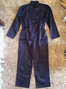 NWOT Navy Blue Work Coverall Overall Mechanic Maintenance Uniform Size Large L